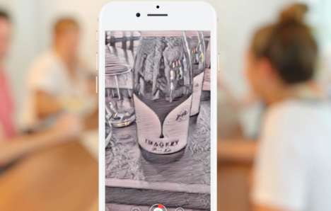 Painterly AR Wine Apps : ar mobile app