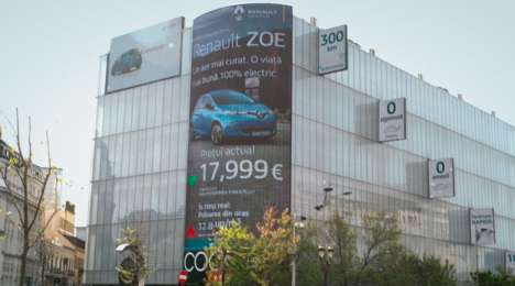 Pollution-Activated Car Billboards : car billboard