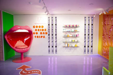 Psychedelic Skincare Pop-Ups : skincare popup