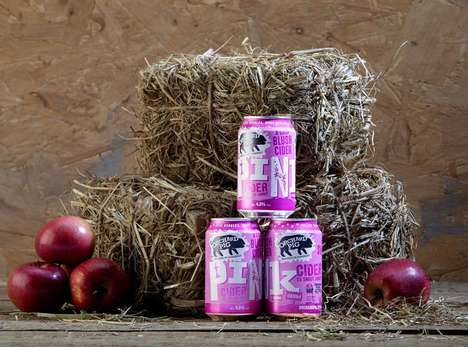Refreshing Rose-Colored Ciders : pink cider