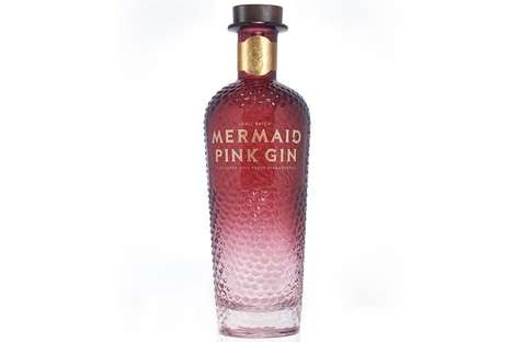 Rosy Folklore-Inspired Libations : Mermaid Pink Gin