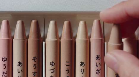 Skin Tone-Colored Crayons : flesh colored crayon