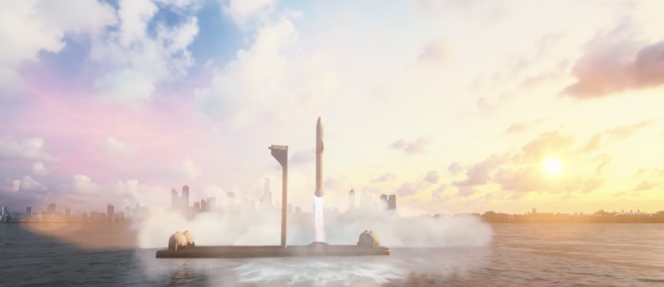 SpaceX's goal for point-to-point travel