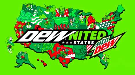 State-Specific Soda Labels : DEWnited States
