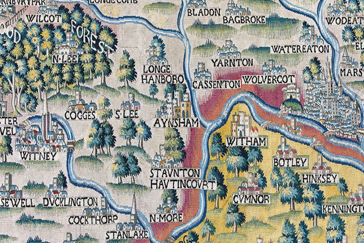 A rich tapestry of English life unfurls in Oxford with restoration of 400-year-old woven maps