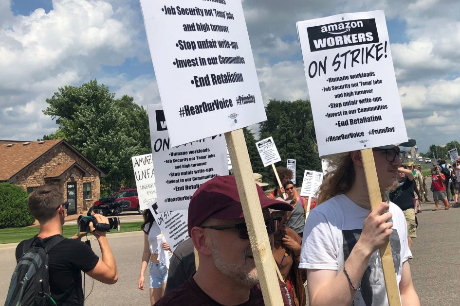Amazon workers' Prime Day strike begins in Minnesota