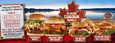Canadian-Inspired Burgers : EH-MAZING Canadian