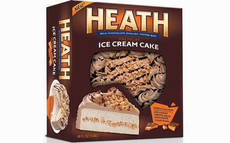 Candy Bar-Infused Frozen Cakes : Heath Ice Cream Cake
