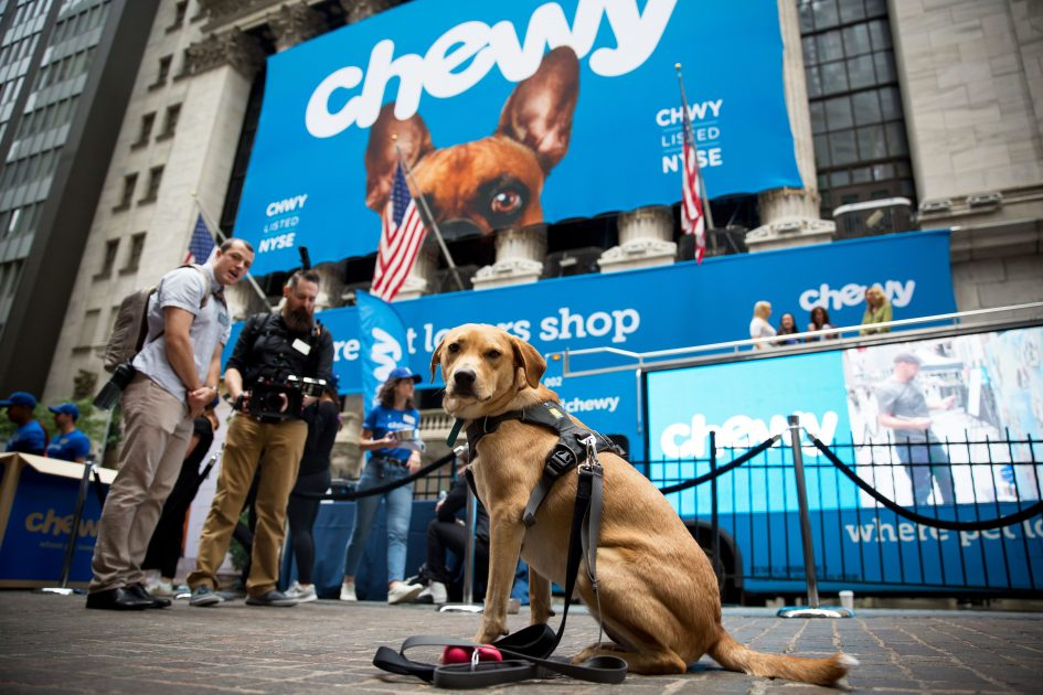 Chewy announces first earnings since IPO, matching previous guidance