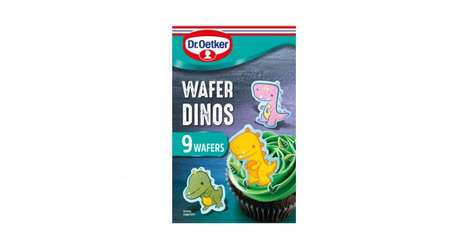 Child-Targeted Baking Products : Dr Oetker Wafer Dinos