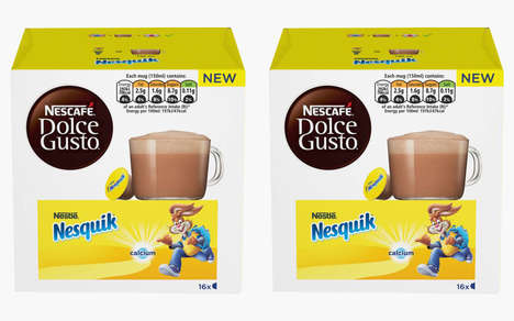 Child-Targeted Drink Pods : Nesquik hot chocolate pods