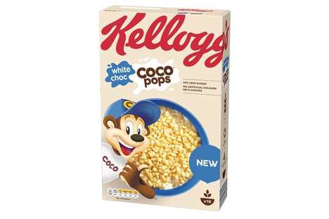 Chocolatey Reduced Sugar Cereals : White Chocolate Coco Pops
