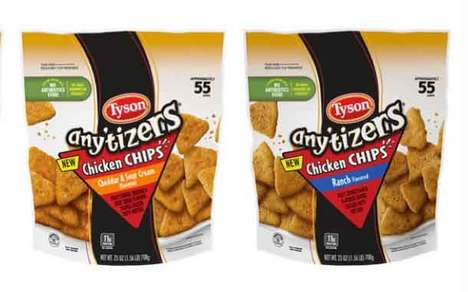 Crispy Chip-Like Chicken Snacks : Any'tizers Chicken Chips