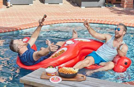 Dip-Holding Pool Float Giveaways : Two-Person Pool Float