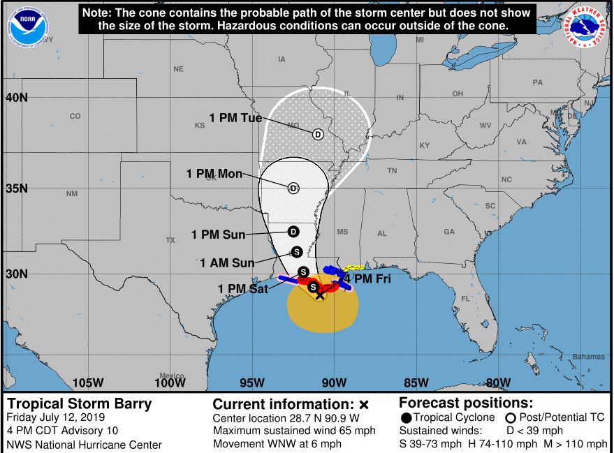 Energy industry braces for first 2019 hurricane as Barry approaches
