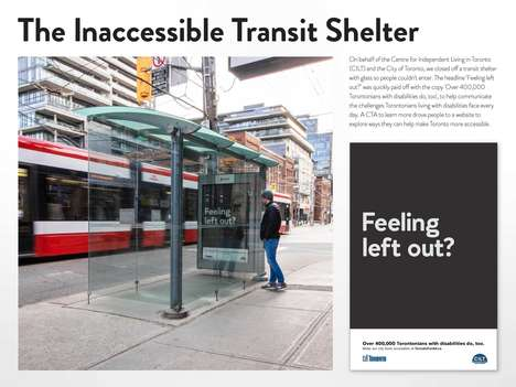 Inaccessible Bus Shelters : transit shelter