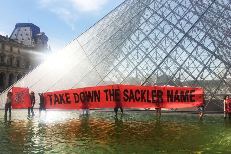 Musée du Louvre removes all mention of Sackler name from its galleries following protests