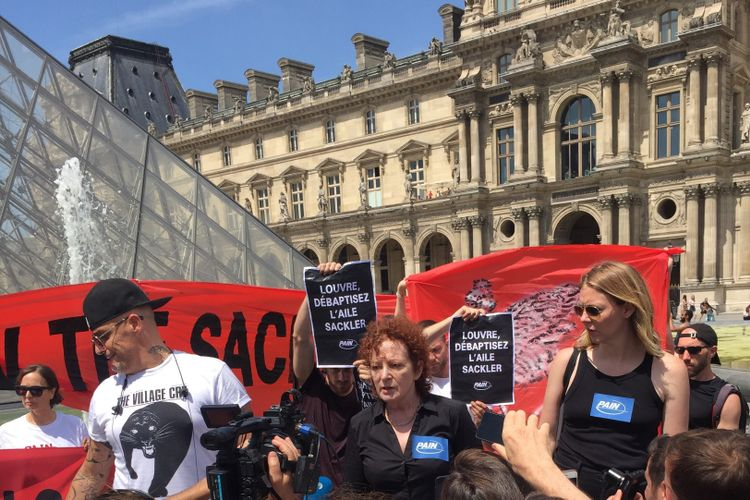 Nan Goldin's anti-opioid activist group storms the Musée du Louvre