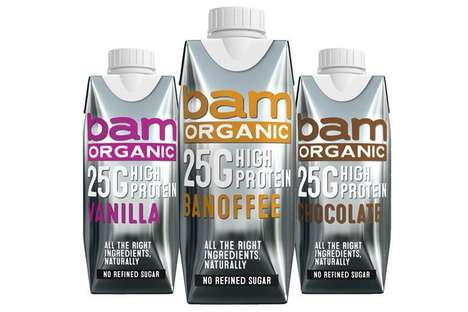 Naturally Formulated Protein Shakes : Bam Organic