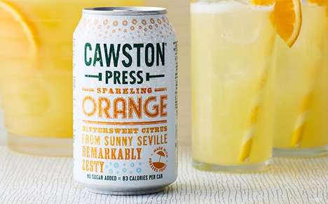 Nostalgia-Inspired Sparkling Drinks : Cawston Press Sparkling Orange