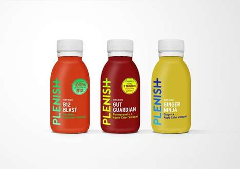 Nutrient-Dense Juice Shots : Plenish juice shots