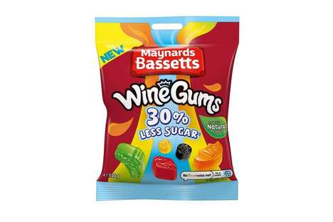 Premium Reduced Sugar Candies : Maynards Bassetts Wine Gums
