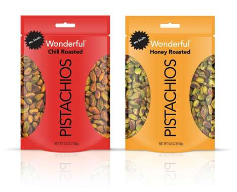 Prepackaged Roasted Pistachio Snacks : Wonderful Pistachios No Shells