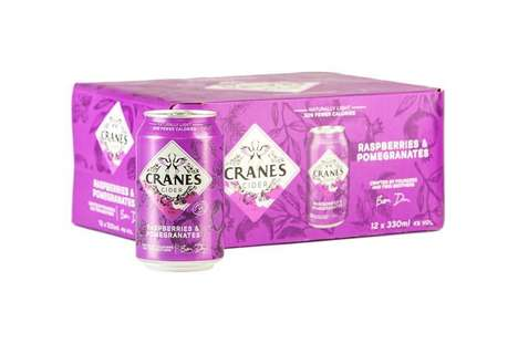 Sustainable Canned Cider Packaging : Cranes Drinks