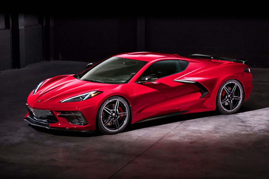 The new 2020 C8 Corvette Stingray guns for Ferrari with first mid-engine design