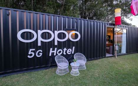 5G-Enabled Shipping Container Hotels : Oppo 5G Hotel
