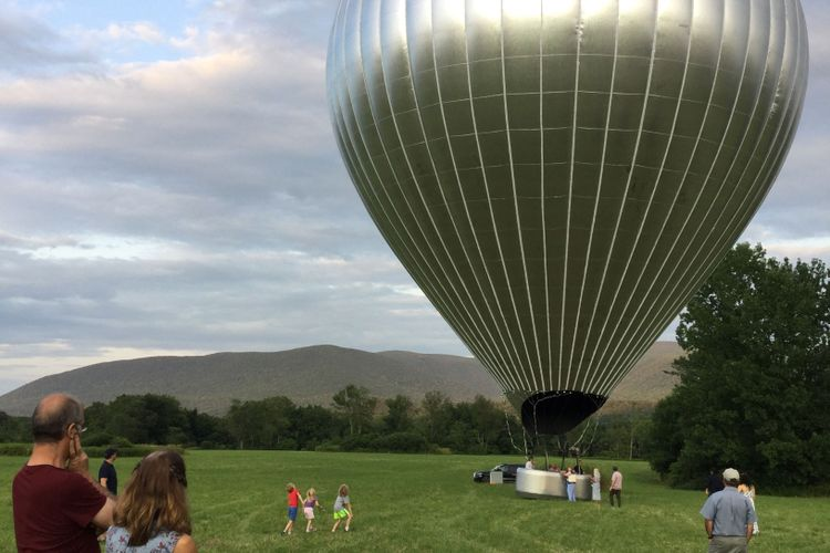 A reflective journey: Doug Aitken's hot-air balloon touches down in the Berkshires