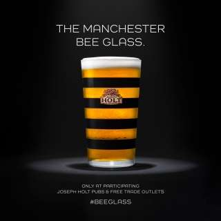 Bee-Themed Beer Glasses : Manchester Bee Glass