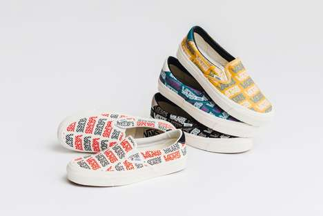 Colorful Logo-Accented Sneaker Designs : vans vault slip-on