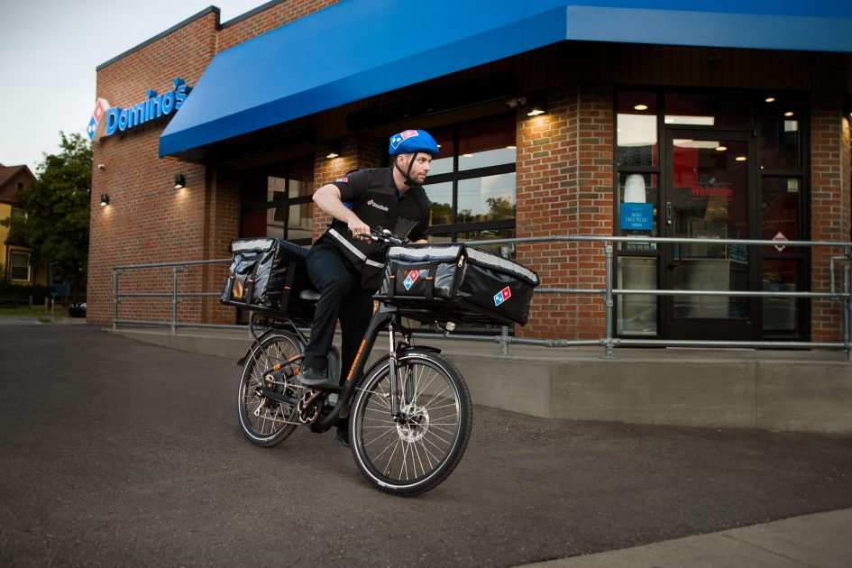Domino's embraces delivery via e-bike, following in the footsteps of GrubHub and UberEats