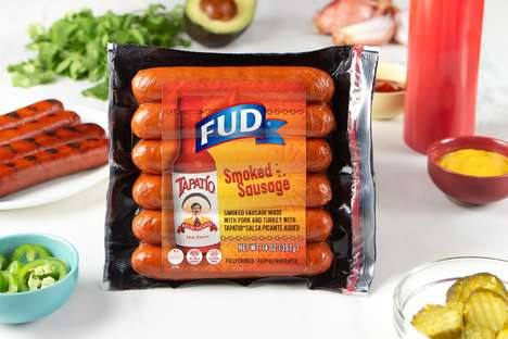 Hot Sauce-Infused Sausages : FUD smoked sausages