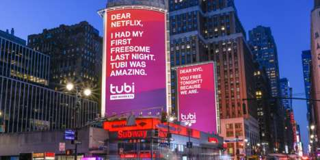 Humorous Streaming Service Billboards : Cheeky Campaign