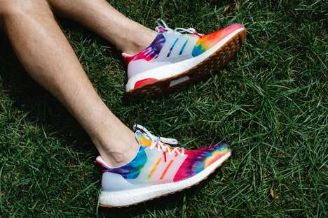 Music Festival-Inspired Shoes : psychedelic sneakers