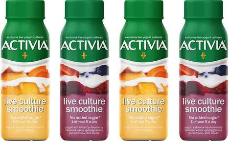 Prepackaged Probiotic Smoothies : Activia Live Culture Smoothies