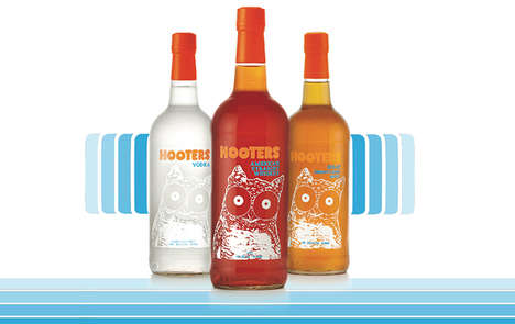 Restaurant-Branded Spirits Collections : Hooters Spirits Line