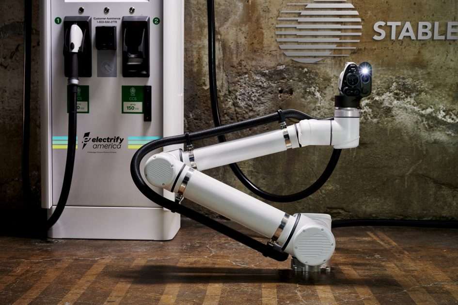 Robotic charging station pilot for self-driving vehicles