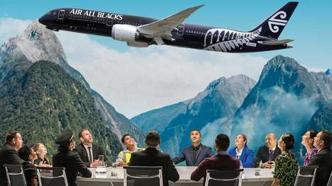 Rugby-Themed Flight Videos : Air All Blacks