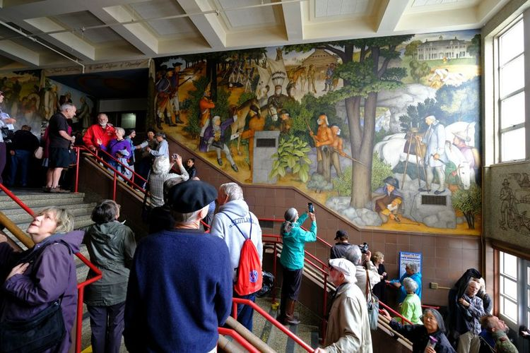 San Francisco school board votes to preserve but conceal a controversial mural