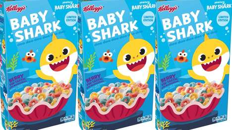 Shark-Themed Cereals : Baby Shark Cereal