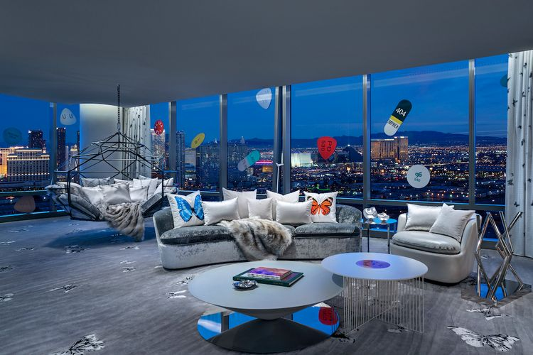 Time magazine's top 100 destinations list includes Damien Hirst's $100,000-per-night Las Vegas suite