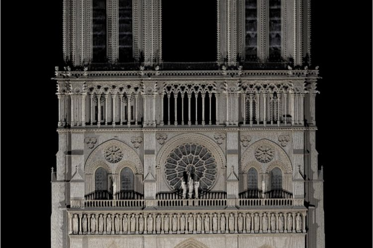 Laser scan may one day aid Notre Dame's restorers