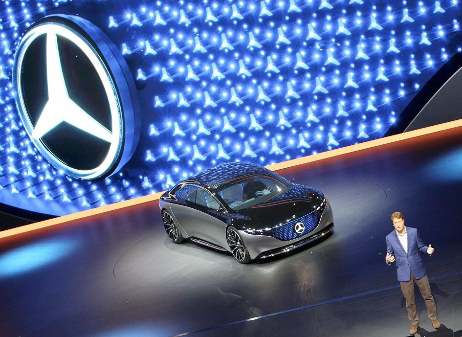 Mercedes-Benz ups competition against Tesla with all-electric Vision EQS