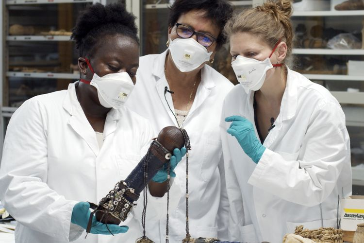 Namibian artefacts travel home in Berlin museum research project