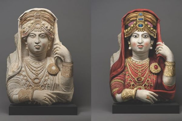 'The most beautiful female bust' brought back to life with vivid colour