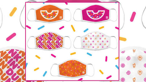 Cheerful Donut-Themed Face Masks : Dunkin' face masks