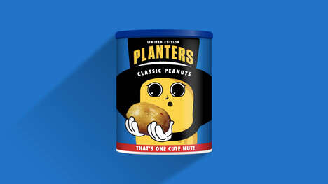 Newborn Mascot Peanut Tins : peanut packaging